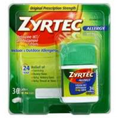 Zyrtec Adult Tablet - 30 Count