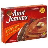 Aunt Jemima Great Starts Frozen Pancake & Sausage-4 ct