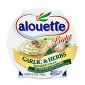 Alouette Light Garlic & Herb Spreadable Cheese -6.5 oz