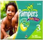 Pamper's Baby Dry 16 - 28 lb. -36ct