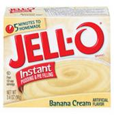Jell-O Banana Cream Pudding -1 oz