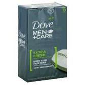 Dove Mens Extra Fresh Bar Soap - 6-4.25 Oz