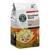 Starbucks Breakfast Blend Ground Coffee -12 oz