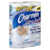 Charmin Ultra Soft Double Roll Bathroom Tissue - 12 Roll