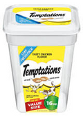 Whiskas Temptations  Value size Chicken Flavor -16oz