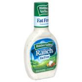 Hidden Valley Ranch Fat Free  Salad Dressing -16 oz