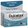 Dulcolax Stool Softener 100 mg Liquid Gels, 100 CT