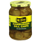 Mt Olive Hamburger Dill Chips -16 oz