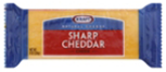 Kraft Natural 2%  Sharp Cheddar Block Cheese -7oz