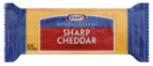 Kraft Natural 2%  Sharp Cheddar Block Cheese -7oz