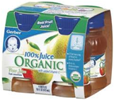 Gerber Organic Pear Juice-4/4oz
