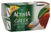 Dannon Activia Non‑Fat Peach Greek Yogurt, 4 CT