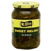 Mt Olive Relish Dill -16 oz