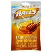 Halls Sugar Free Honey-Lemon Cough Drops - 25 Count