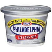 Kraft Philadelphia 1/3 Less Fat Cream Cheese Spread -8 oz