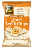 Baked Lentil Chips Parmesan Garlic - Gluten Free - 4.5 oz