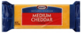 Kraft Natural Medium Cheddar Block Cheese, 8oz