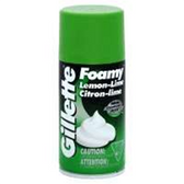 Gillette Foamy Lemon Lime Shaving Cream - 11 Oz