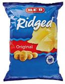 Store Brand Ridged Potato Chips Original - 11.5 Oz
