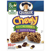 Quaker Chewy Oatmeal Raisin -10 pk