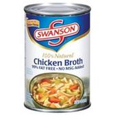 Swanson Chicken Broth Fat Free No MSG Added -14 oz