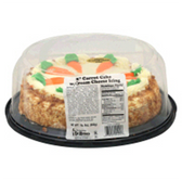 Carrot with Cream Cheese Icing Single Layer 8 Inch