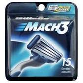 Gillette Mach 3 Cartridges - 15 Count