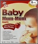 Hot Kid Baby Mum Mums Apple Rice Rusks -1.76oz