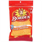 Borden Finely Shredded Mild Cheddar Cheese - 8 oz