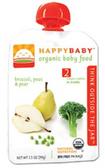 Happy Baby Organic Baby 2nd Food - Broccoli, Peas & Pear