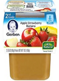 Gerber All-Natural - Apple Strawberry Banana -2ct