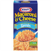 Kraft Macaroni & Cheese Spirals -5.5 oz