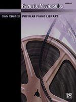 Favorite Movie Solos - Dan Coates Popular Piano Library