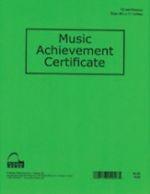 Music Achievement Certificate (Pack of 12)
