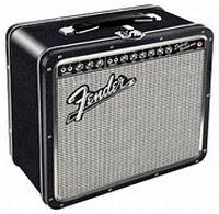 Fender Black Tolex Metal Lunch Box