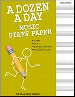 A Dozen A Day - Music Staff Paper