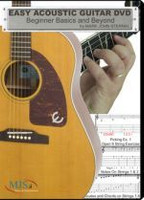 EASY ACOUSTIC GUITAR DVD - Beginner Basics and Beyond
