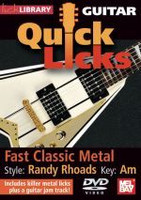 Quick Licks for Guitar - Randy Rhoads: Fast Classic Metal DVD