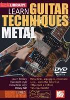 Learn Guitar Techniques: Metal DVD