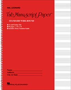 Swell Music Books Plus Guitar Tablature Manuscript Paper Wire Bound Wiring Digital Resources Instshebarightsorg