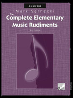 The Complete Elementary Music Rudiments Answer Book, Second Ed. TSCRA