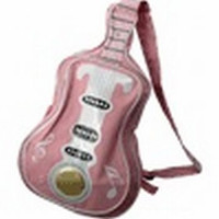 Guitar Handbag with Notes - Light Pink