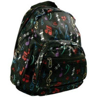 Mini Satin Back Pack with Music Notes