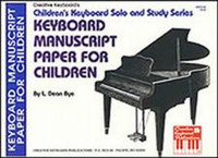 Keyboard Manuscript Paper for Children