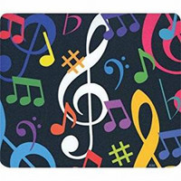MUSIC NOTES MOUSE PAD - MULTI COLOR