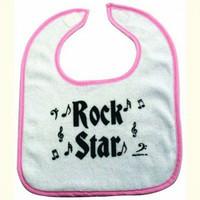 Rock n' Roll Baby Bib - Pink