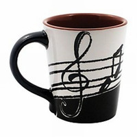 Music Note Latte Mug