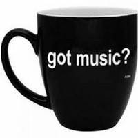 GOT MUSIC? Bistro Mug - Black & White