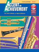 Accent on Achievement, Book 1 - E-flat Alto Saxophone Book & CD