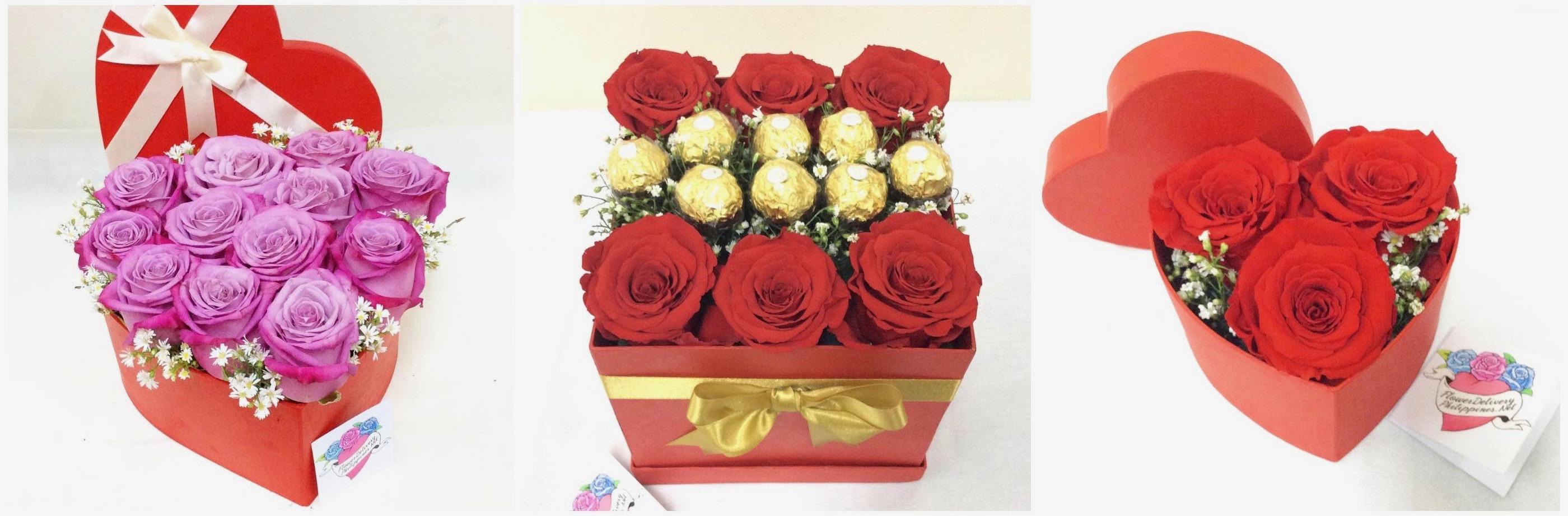 Boxed Ecuadorian Roses Manila